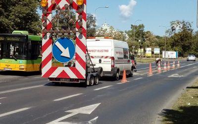 Poniedziałkowe prace drogowe na poznańskich ulicach