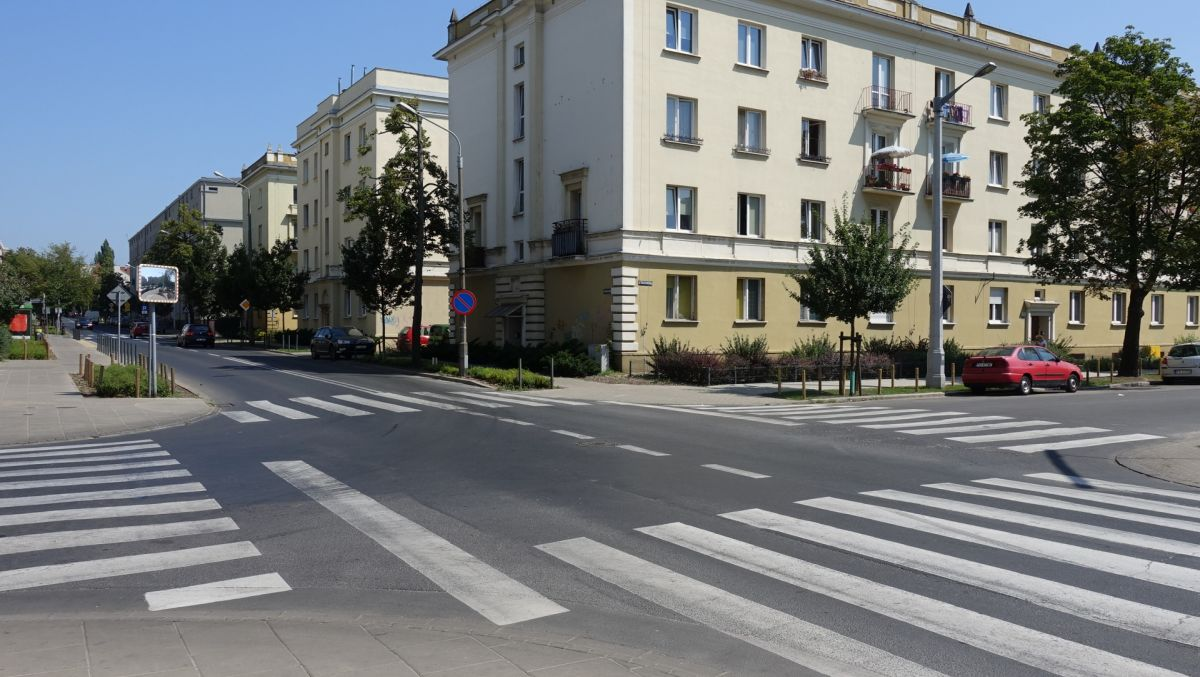 Skrzyżowanie Kasprzaka i Chociszewskiego  z sygnalizacją