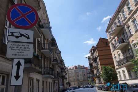 SPP Łazarz. Graniczna jednokierunkowa i z uporządkowanym parkowaniem