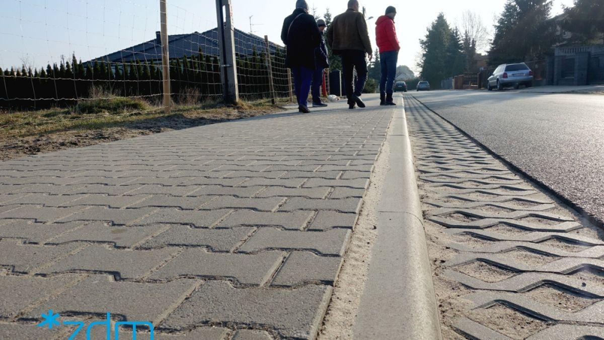 Nowy chodnik na ul. Widłakowej