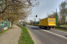 Przejazd przez torowisko na ul. Starołęckiej