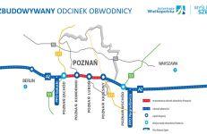 Obwodnica autostradowa Poznania zostanie poszerzona do trzech pasów fot. Autostrada Wielkopolska