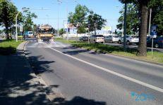Polewaczka na ulicy