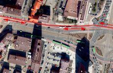 Planowany przebieg dwukierunkowej, docelowej drogi rowerowej