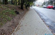 Chodnik na ul. Widnej