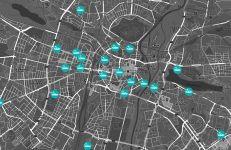 Mapa lokalizacji stacji ładowania pojazdów elektrycznych