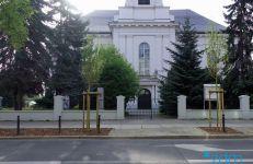 Klony przed kościołem pw. Wszystkich Świętych