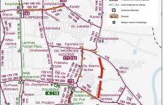 Schemat komunikacji publicznej i buspasów od 30 05 2020