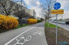Infrastruktura dla rowerzystów na ul. Jana Pawła II