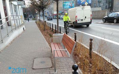 Nowa zieleń i mała architektura na ul. Krakowskiej