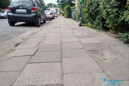 Remonty chodników na ul. Chlebowej i Tomickiego