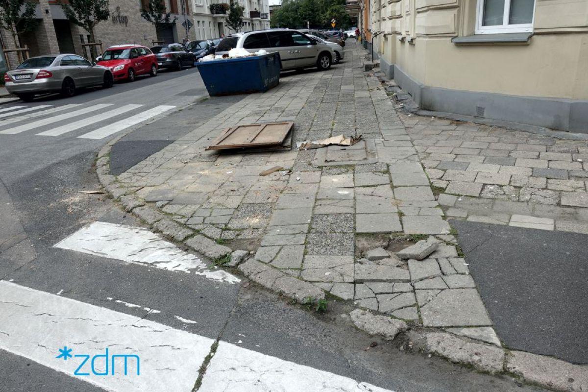 Remont chodnika na ul. Kosińskiego