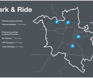 Ruszają prace projektowe dla trzech kolejnych parkingów Park&Ride