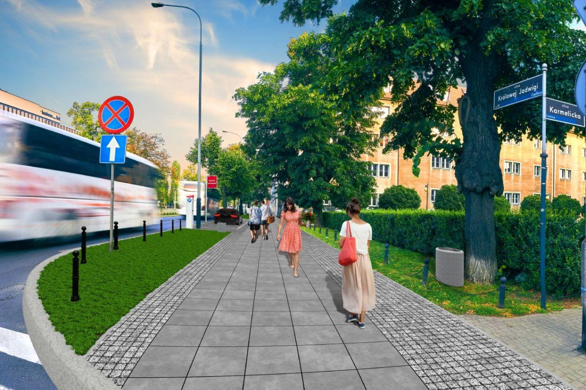 Rusza przebudowa chodnika na ul. Królowej Jadwigi