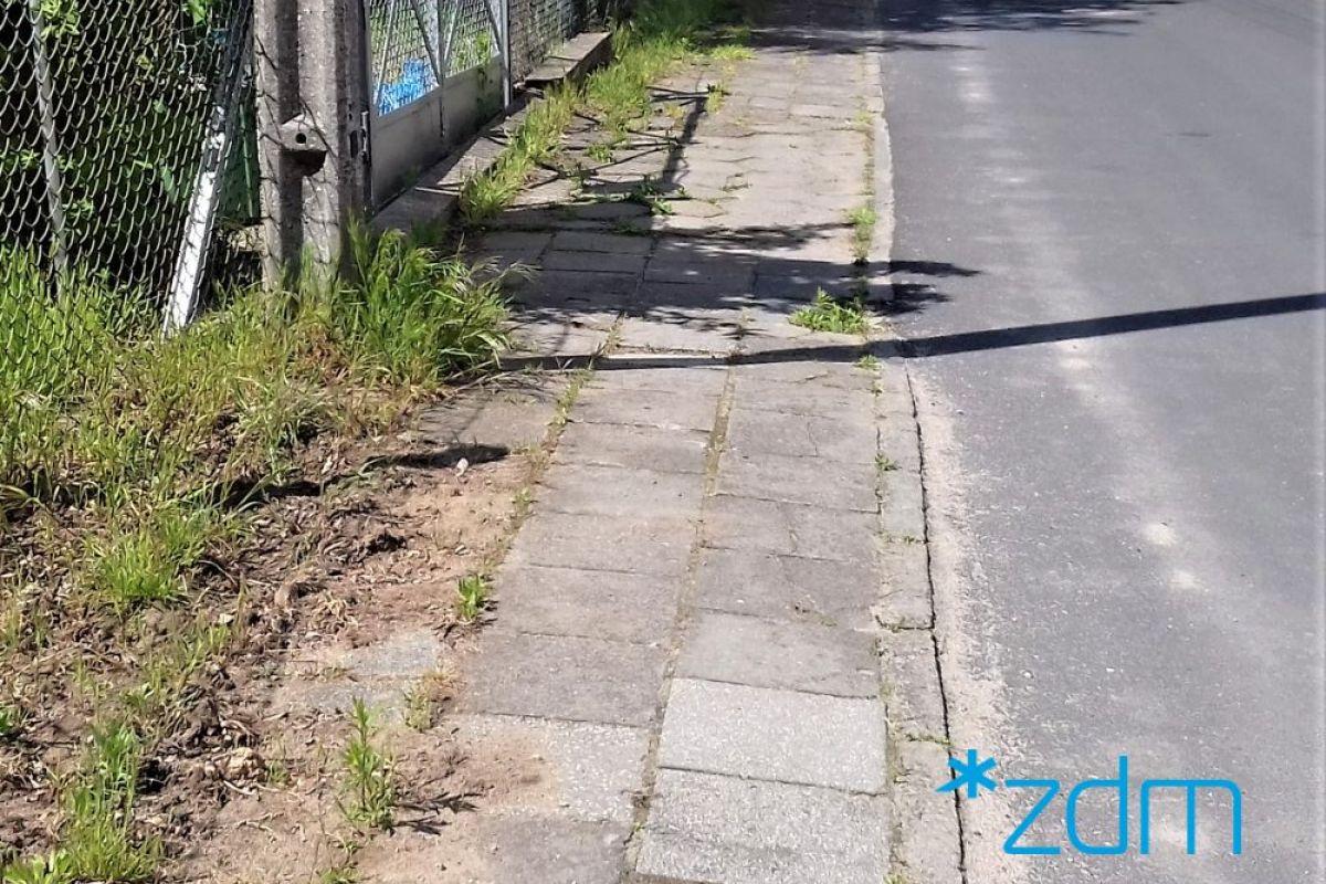 Remont chodnika na ul. Wirskiej