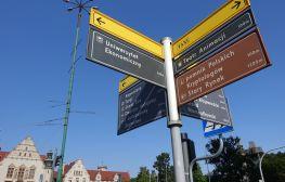 Informacja kierująca dla pieszych