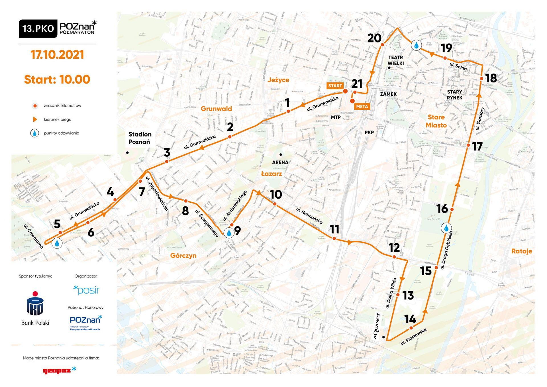 Mapa trasy biegu
