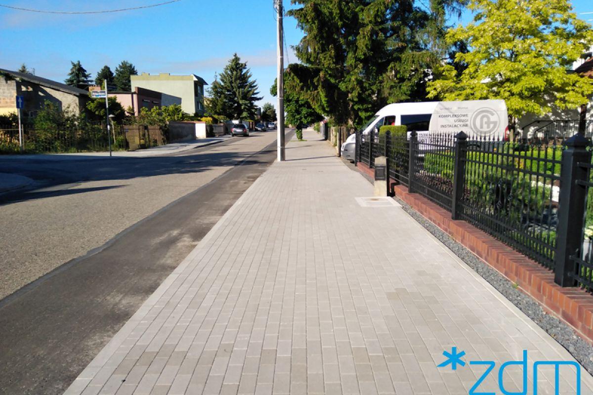 Chodniki na Floksowej i Gladiolowej oddane do użytku