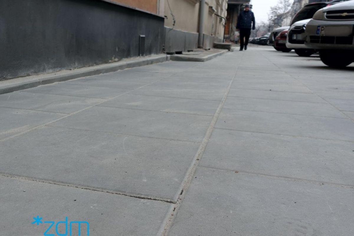 Chodnik na ul. Kosińskiego po remoncie
