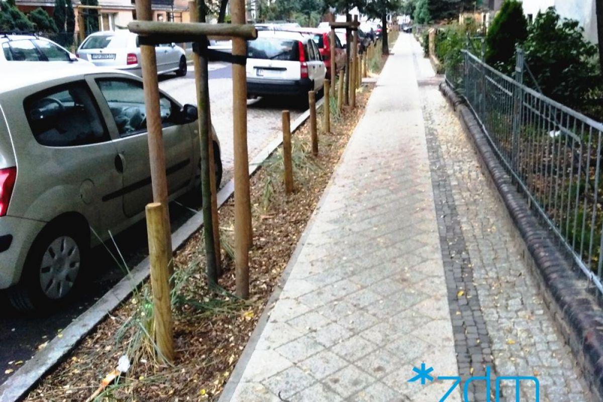 Wyremontowany chodnik na ul. Poplińskich