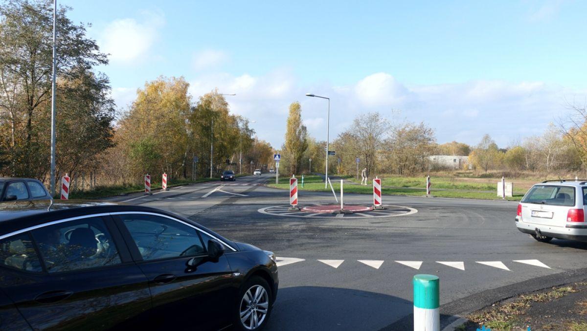 Nowe rondo na skrzyżowaniu ulic Koszalińskiej i Literackiej