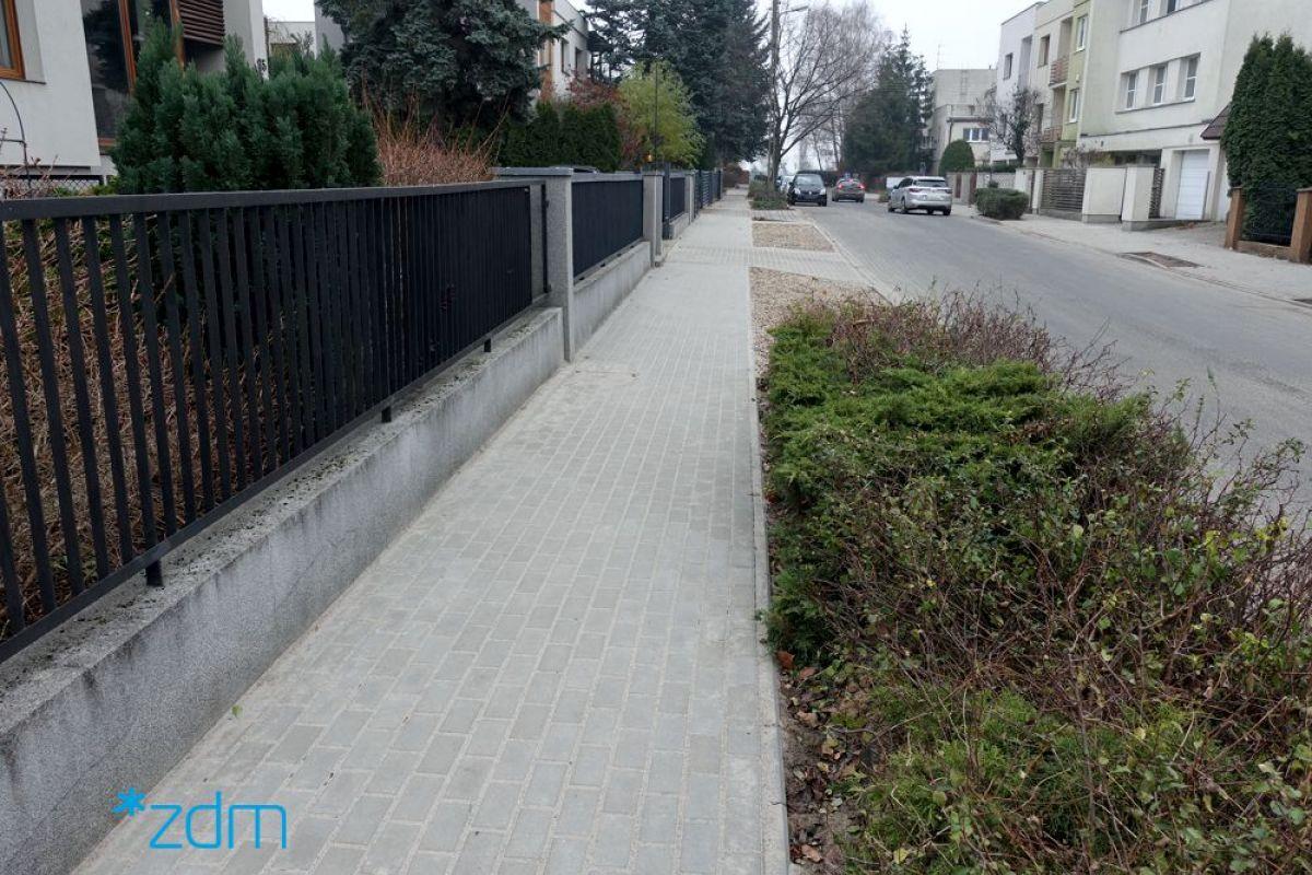 Chodnik na ul. Sołtysiej po remoncie