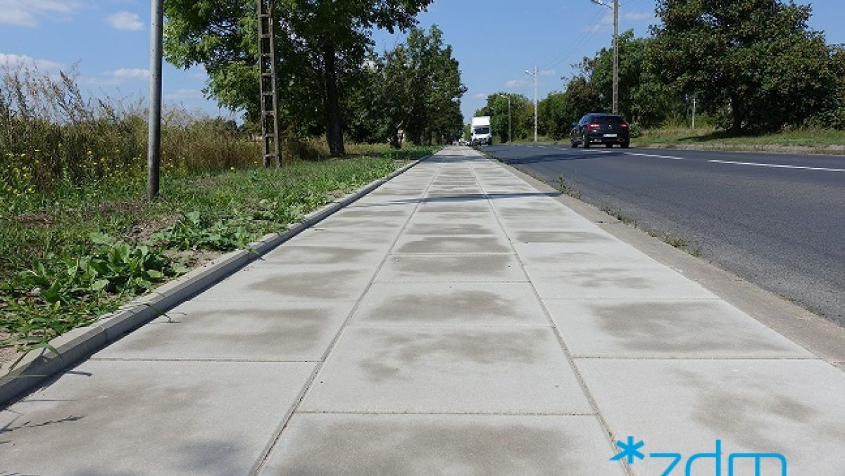 Chodniki na ulicach Sadnickiej i Wołczyńskiej